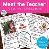 Meet the Teacher and Open House Digital Templates | Editable Google Slides