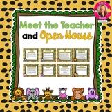 Jungle Themed Meet the Teacher and Open House EDITABLE PowerPoint
