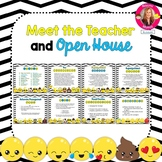 Emoji Themed Meet the Teacher and Open House EDITABLE PowerPoint
