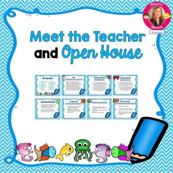 Ocean Themed Meet the Teacher and Open House EDITABLE PowerPoint