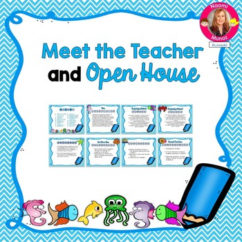 Ocean Themed Meet the Teacher and Open House EDITABLE PowerPoint