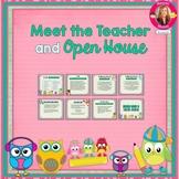 Owl Themed Meet the Teacher and Open House EDITABLE PowerPoint