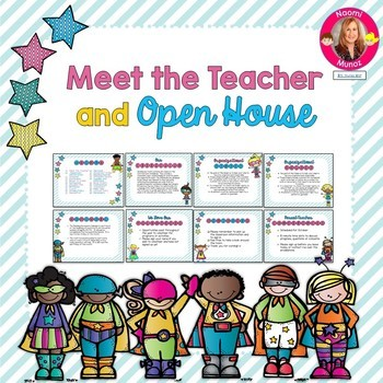 Superhero Themed Meet the Teacher and Open House EDITABLE PowerPoint