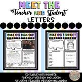 Meet the Teacher, Student Teacher, and Student Newsletter-
