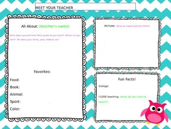 Meet the Teacher! (back to school resource!)