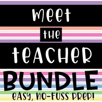 Meet the Teacher bundle // easy prep // open house // back to school