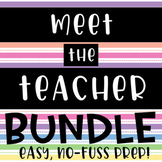 Meet the Teacher bundle // easy prep // open house // back