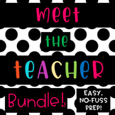 Meet the Teacher {BLACK and WHITE BRIGHT colorful} back to