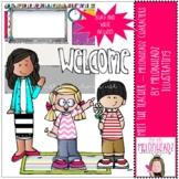 Meet the Teacher clip art - Melonheadz Characters - Mini -