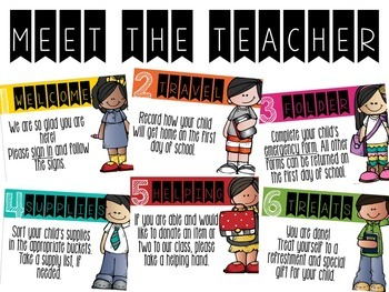 Meet the Teacher directions