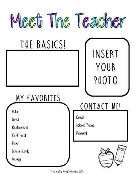 Meet the Teacher (editable)