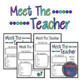 Meet the Teacher (editable)
