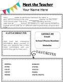Meet the Teacher [editable]