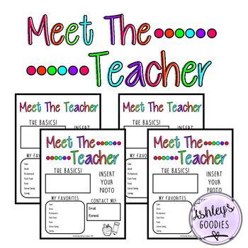 Meet the Teacher (editable) (vol.2)