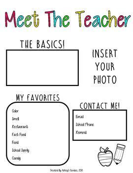 Meet the Teacher (editable) (vol.3)