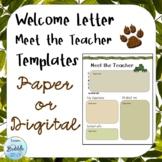 Meet the Teacher editable Welcome Letter Template