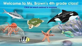 Meet the Teacher Under the Sea Theme flipchart