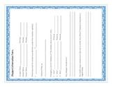 Meet the Teacher forms-Student information form
