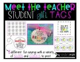 Meet the Teacher gift tags