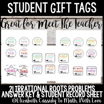 Meet the Teacher gift tags for students-Back to school-Student gift tags-5 Sets