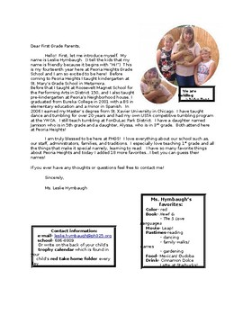 Meet the Teacher letter editable