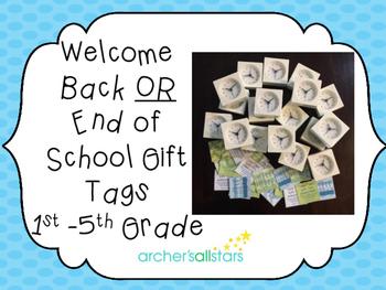 Meet the Teacher or End of School Teacher Gift Idea and Tags