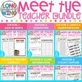 Meet the Teacher Classroom Stations Templates, Teacher Sli