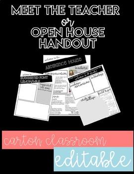 Meet the Teacher or Open House Handout