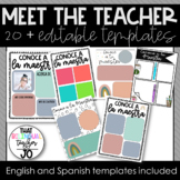 Meet the Teacher templates ~ English and Spanish ~Growing