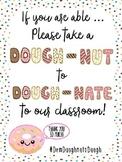 Meet the Teacher/Back to School Classroom Supply Wish List: Doughnut Theme