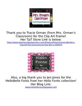 Meet the Teacher/Open House Parent Note