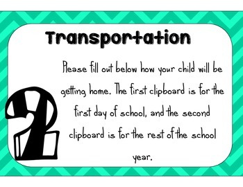 Meet the Teacher/Open House Station Signs