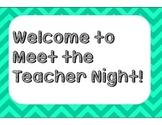 Meet the Teacher/Open House Station Signs