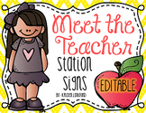 Meet the Teacher/Open House Station Signs ((Editable))