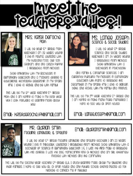 Meet the Teachers Aides Newsletter- EDITABLE - Basic Printer Friendly