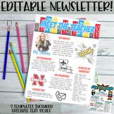 Meet the Teachers Newsletter EDITABLE- Superhero