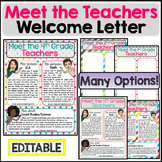 Meet the Teachers Welcome Letter Template Bitmoji EDITABLE