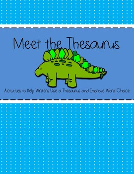 Meet the Thesaurus  sc 1 st  Teachers Pay Teachers : door thesaurus - Pezcame.Com