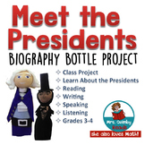Meet the  US Presidents | Biography Bottle Person Project | Social Studies