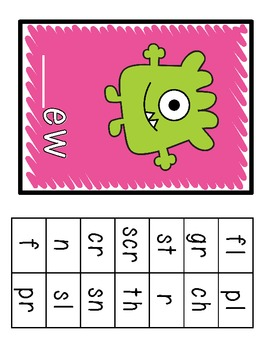 Meet the Yuckies Freebie (Resources for ew, ue, and oo Spelling Patterns)