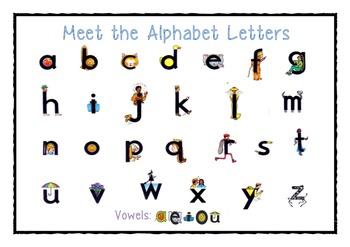 Meet the alphabet letters- desk charts