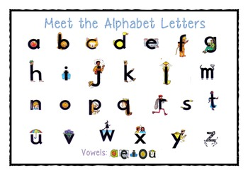 Meet the alphabet letters- desk charts