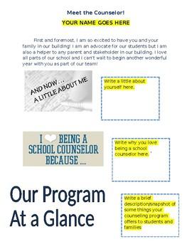 Meet the counselor handout (editable)