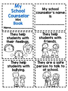 Meet the school counselor mini book