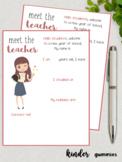 Meet the teacher Simple template