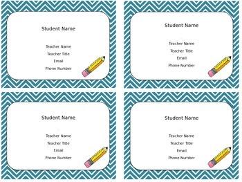 Meet the teacher magnets BUNDLE
