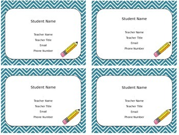 Meet the teacher magnets BUNDLE