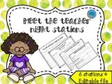 Meet the teacher stations - Open House **EDITABLE**