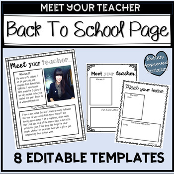 Parent Letter For The First Day of School Editable Back To School Letter
