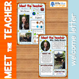 Meet the teacher welcome letter editable template